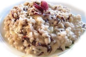 risotto con radicchio e gorgonzola