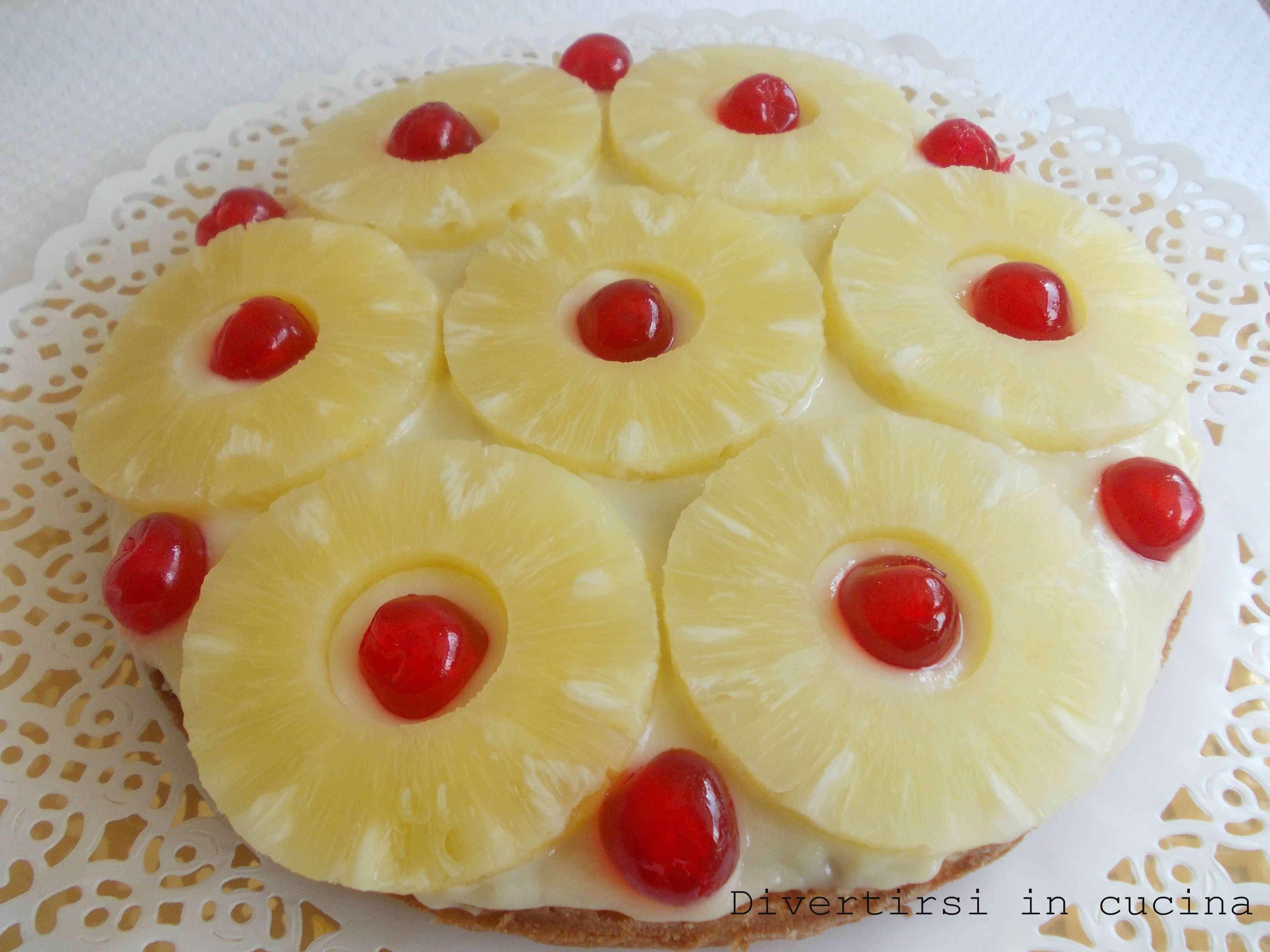 torta ananas crema