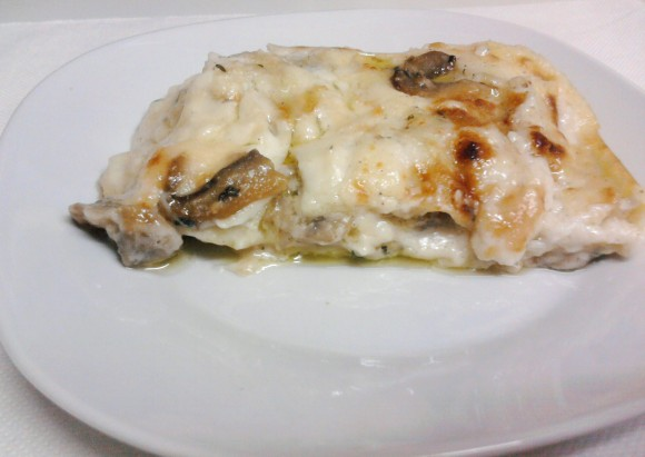 lasagne bianche funghi salsiccia bimby