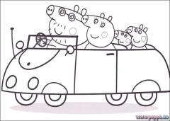 Disegni Da Colorare Gratis Online Peppa Pig E Maschere Di Carnevale