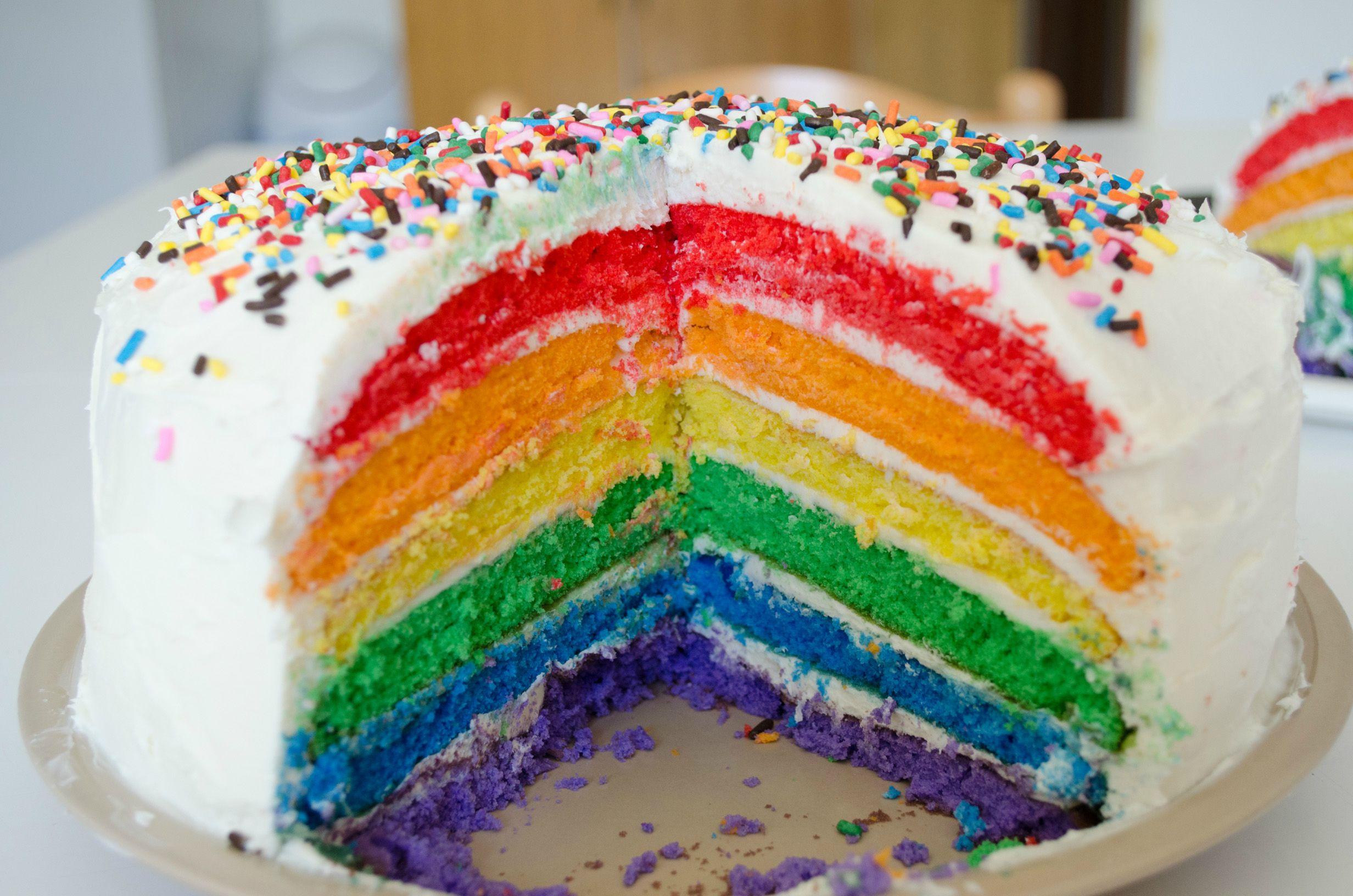 cake rainbow bimby