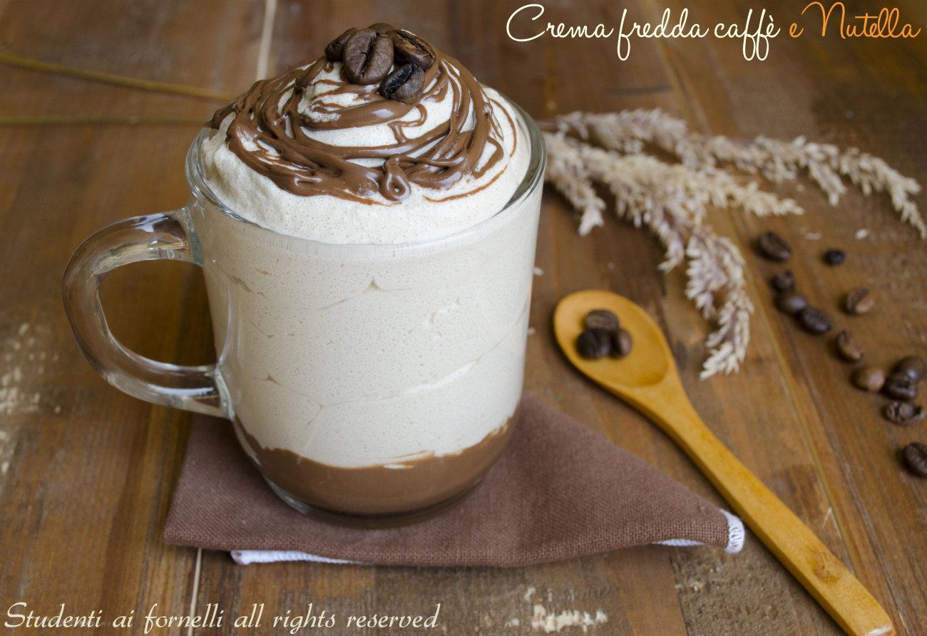 Crema fredda al caffè Bimby con nutella