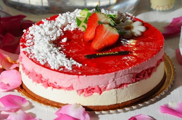 torta gelato fragola bimby