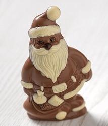 Babbo Natale di cioccolato ricetta Bimby