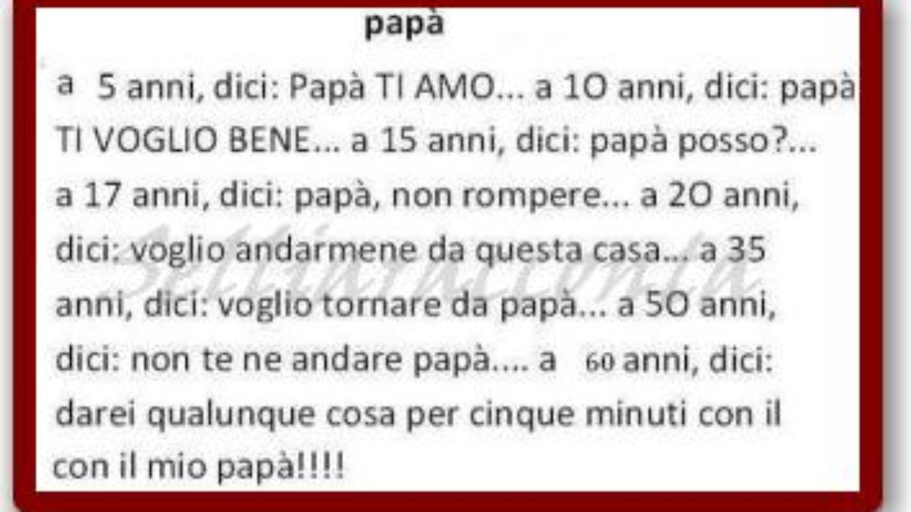 Frasi Di Auguri Per La Festa Del Papa Per Un Biglietto Speciale Dottor Salute