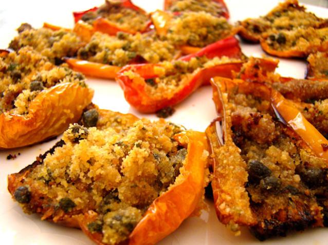 Peperoni gratinati al forno ricetta Bimby