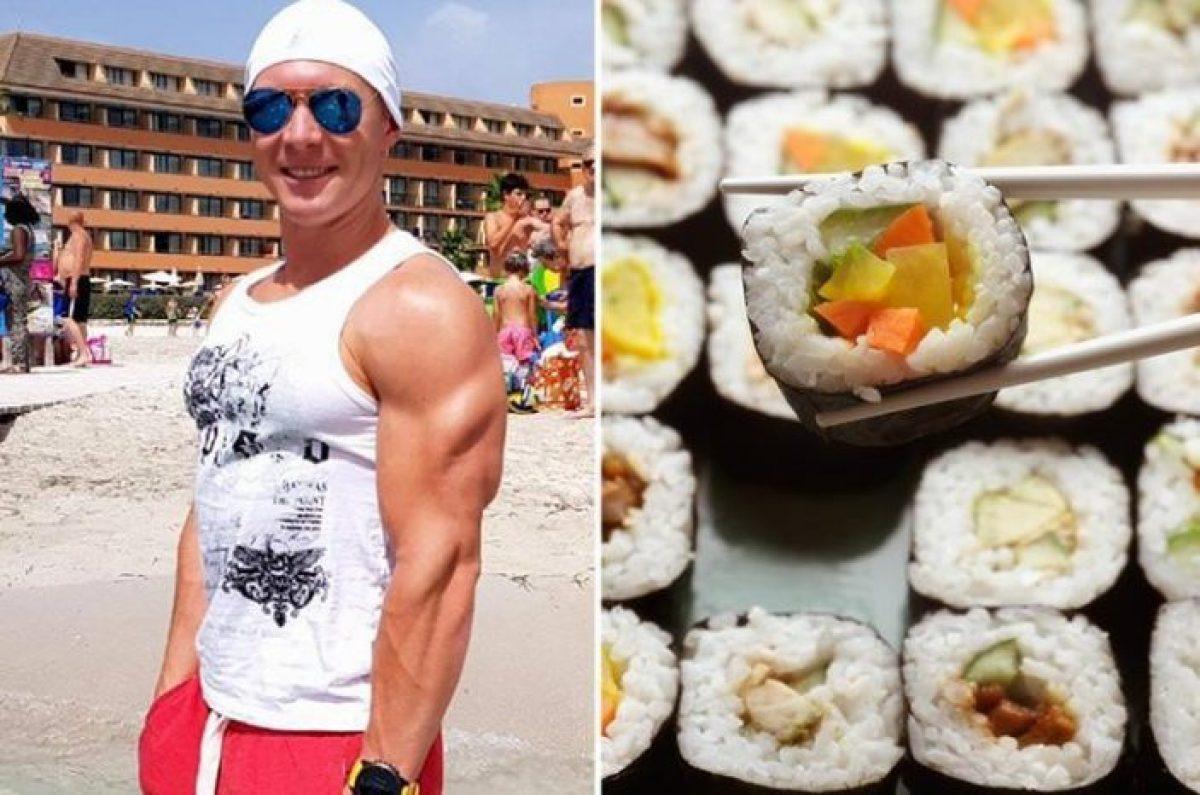 Mangia 100 piatti di sushi: la reazione del proprietario lascia senza parole