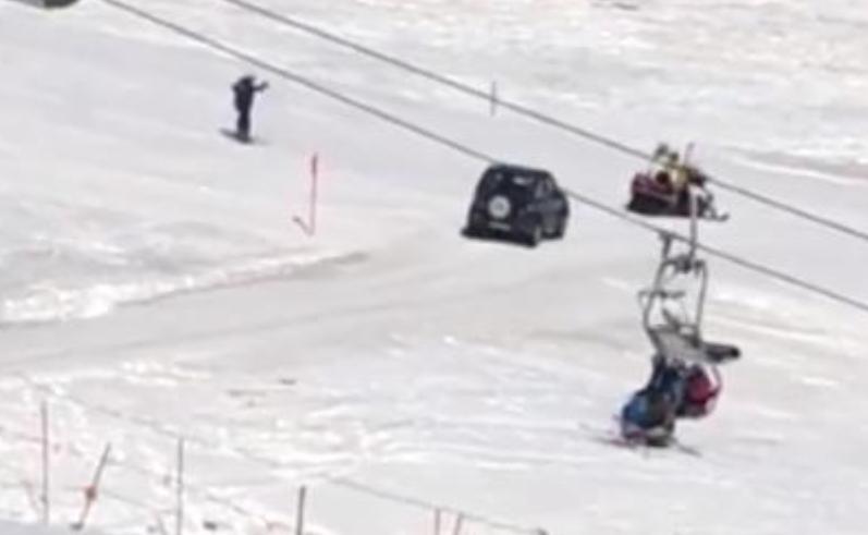 """91enne con la Jeep sulla pista da sci: """"Dov'è il ristorante?"""""""