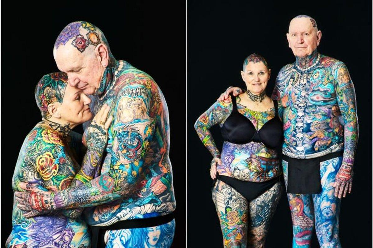 Donna con più tatuaggi al mondo: ha 70 anni e il 98% del corpo è tatuato